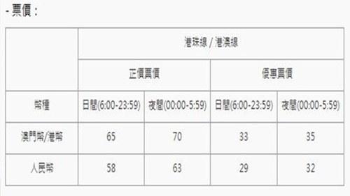 강주아오 대교 버스 가격