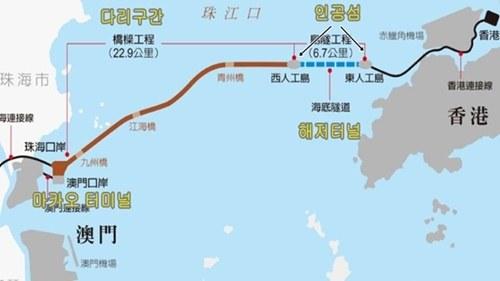강주아오 대교 지도